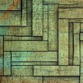 抽象的な 3 d ブルー グリーンの木材板背景 — ストック写真