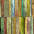 Stock Photo: Abstract 3d grunge render colored wood timber plank backdrop