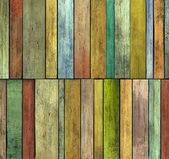 Abstract 3d grunge render colored wood timber plank backdrop — Stock Photo