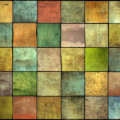 Abstract multiple color square tile grunge pattern backdrop — Stock Photo
