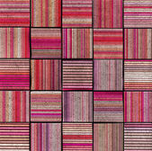 3d abstract striped tile backdrop in pink magenta — Stock Photo