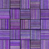 3d abstract striped tile backdrop in purple lavender — Stock Photo