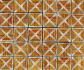 3d cross abstract striped tile backdrop in orange brown — Foto de Stock