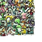Magdalena graffiti telón de fondo en blanco del color 3d múltiple fragmentada — Foto de Stock