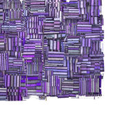3d abstract fragmented purple striped backdrop on white — Stock Photo