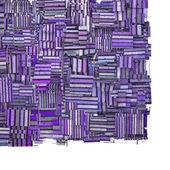 3d abstracto fragmentada púrpura rayas telón de fondo en blanco — Foto de Stock