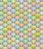 3d glossy reflective balls pattern in multiple rainbow color — Stock Photo