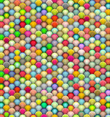 3d render of fluffy balls in multiple bright colors — Stock Photo