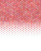 3d abstract render of gradient fluffy pink red bubble pattern — Stock Photo