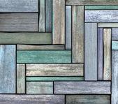 Abstraktní 3d vykreslení pozadí modré zelené dřevo dřevo prkno — Stock fotografie