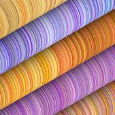 Sfondo 3d di forma toro curcular blu viola arancione — Foto Stock