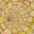 3d render tile tunnel pipes in multiple orange yellow - Stock fotografie