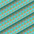 Diagonal tiled blue green gray roll shape backdrop — Stok Fotoğraf #23458826