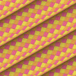 Diagonal tiled orange yellow pink roll shape backdrop — Foto de stock #23458832