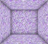 Paarse mozaïek plein betegeld lege ruimte — Stockfoto