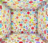 3d illustration square bubble empty space — Stock Photo