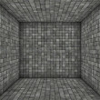 Stock Photo: Gray black mosaic square tiled empty space