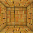 Orange striped square tiled empty space — Stock Photo