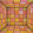 Graffiti spray paint square tiled empty space — Stock Photo