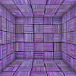 Purple striped square tiled empty space — Stock Photo