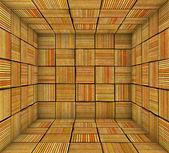 Orange striped square tiled empty space — Stock Photo