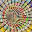 3d pencil tunnel in rainbow color — Stock Photo