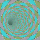 3d render diagonal klinkergolv tunnel grå blå grön — Stockfoto