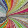 3d render tunnel vortex in rainbow colors — Stock Photo #24000957