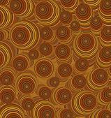 3d orange brown curly worm shape backdrop — Stock Photo