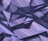 3d telón de fondo azul púrpura patrón de rayas fragmentada — Foto de Stock