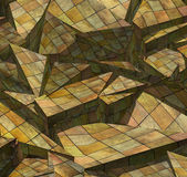 3d fragmented wood timber tile pattern — Stock Photo