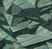 3d fragmented wood timber tile pattern in blue green — Stock Photo