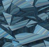 3d fragmented stripe pattern blue backdrop — Stock Photo