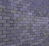 Telha de pedra do mosaico parede chão roxo grunge render 3d — Fotografia Stock