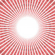 Radial red sun pattern on white — Stock Photo