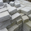 Stack of rectangular pavement stones — Stock Photo #27732361