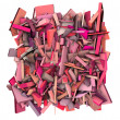 Stock Photo: 3d abstract shape fragmented pattern pink