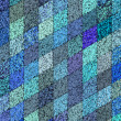 3d mosaic abstract blue backdrop — Stock Photo