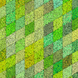 3d mosaic abstract green backdrop — Stock Photo