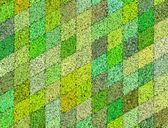 3d mosaic abstract green backdrop — Stock Photo
