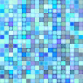 Mosaic backdrop in multiple blue — Stock Photo
