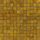 Grunge tile mosaic wall floor orange yellow — Stock Photo