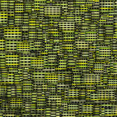 Mosaic tile fragmented backdrop in green yellow — Stock Photo