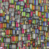 Rainbow backdrop abstract fragmented — Stock Photo