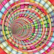 Tunnel pipe striped in rainbow color — Stock Photo