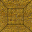 Stock Photo: Tile mosaic empty space room in rust yellow
