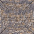 Stock Photo: Tile mosaic empty space room wood timber