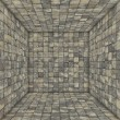 Stock Photo: Marble tile mosaic empty space room