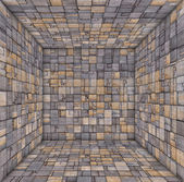 Tile mosaic empty space room wood timber — Stock Photo