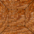 Stock Photo: Grunge tile mosaic empty space room orange
